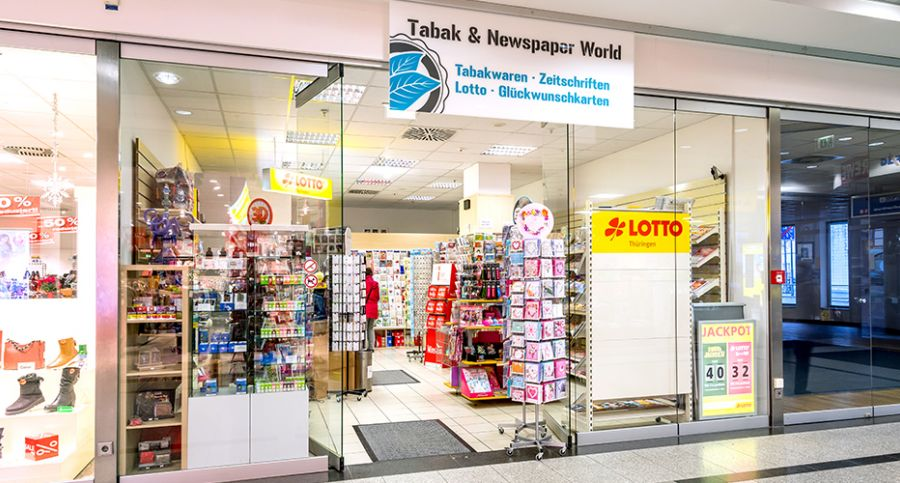 Eingangsbereich TABAC & NEWSPAPER WORLD